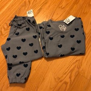 NWT chaser blue heart lounge set size small